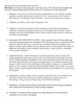 discussing three events (end of act 1, 3 and 4) from the crucible essay Essays from bookrags provide great ideas for the crucible essays and paper topics like essay view this student essay about the crucible  (approx 4 pages at.