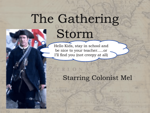 The Gathering Storm Starring Colonist Mel Hello Kids, stay in school and