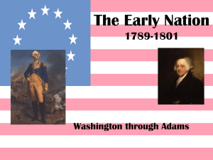 The Early Nation 1789-1801 Washington through Adams