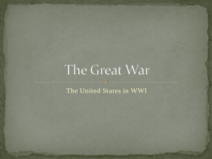 The United States in WWI