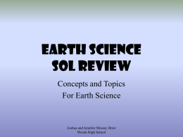 EARTH SCIENCE SOL REVIEW Concepts and Topics For Earth Science