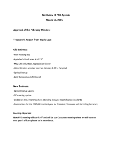 Northview IB PTO Agenda March 10, 2015  -