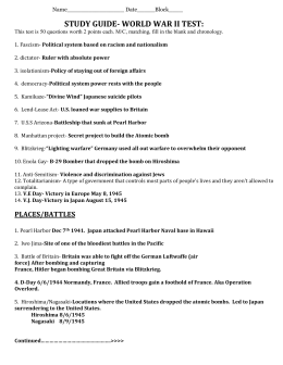 World war ii world war ii study guide 1. Identify at least 3 causes.