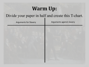 Warm Up: Divide your paper in half and create this T-chart.
