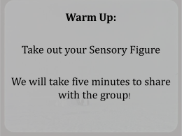Warm Up: Take out your Sensory Figure with the group