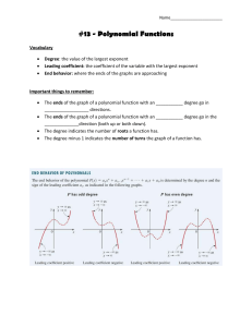 #13 - Polynomial Functions