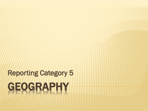 GEOGRAPHY Reporting Category 5