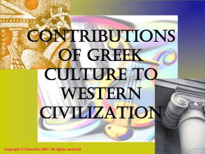 Contributions of Greek Culture to Western