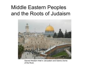 Middle Eastern Peoples and the Roots of Judaism of the Rock