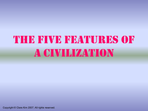 The Five Features of a Civilization