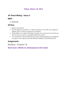Friday, March 18, 2016  AP Timed Writing – block 5 BNW –