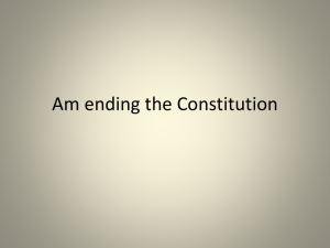 Am ending the Constitution