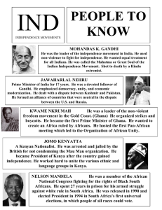 IND PEOPLE TO KNOW MOHANDAS K. GANDHI