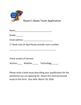 Raven's News Team Application