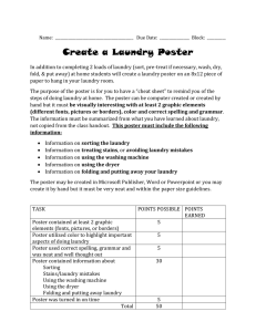 Create a Laundry Poster