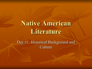Native American Literature Day #1: Historical Background and Culture