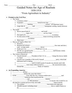 "Guided Notes for Age of Realism 1850-1914 ""From Agriculture to Industry"""