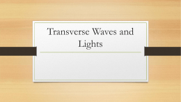 Transverse Waves and Lights