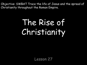 The Rise of Christianity Lesson 27