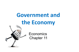 Government and the Economy Economics Chapter 11