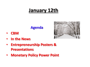 January 12th Agenda CBM In the News