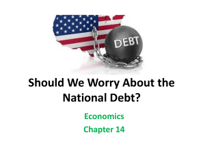 Should We Worry About the National Debt? Economics Chapter 14