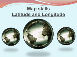 Map skills Latitude and Longitude