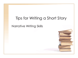 Tips for Writing a Short Story Narrative Writing Skills