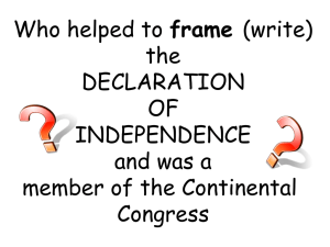 frame the DECLARATION OF