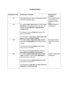 Creativity Rubric