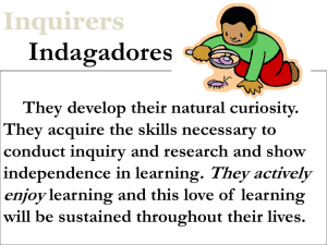 Indagadores Inquirers