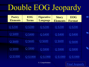 Double EOG Jeopardy