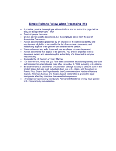 9's Simple Rules to Follow When Processing I-