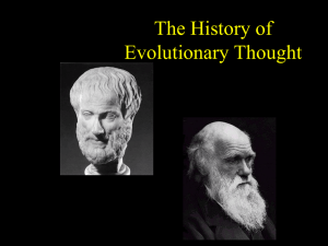 The History of Evolutionary Thought