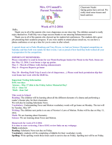Mrs. O'Connell's Parent Newsletter Week of 5-2-2016
