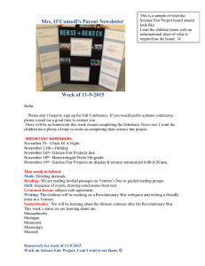 Mrs. O'Connell's Parent Newsletter