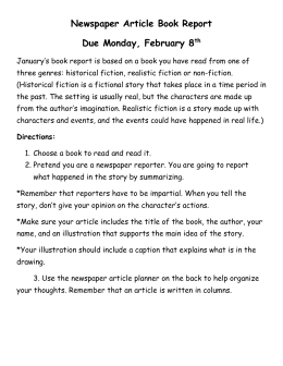 questions for a biography book report Writing a formal book report the student should answer the following questions within their book report: (fantasy, science fiction, biography, etc).