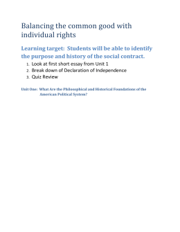 Balancing the common good with individual rights