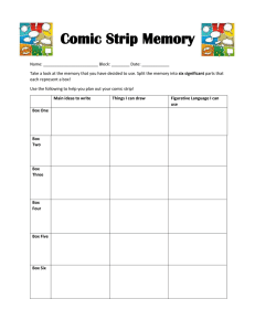 Comic Strip Memory