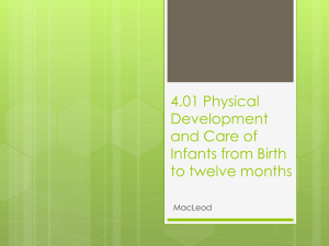 4.01 Physical Development and Care of Infants from Birth
