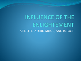 ART, LITERATURE, MUSIC, AND IMPACT