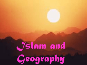 Islam and Geography