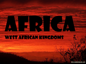 Africa West African Kingdoms