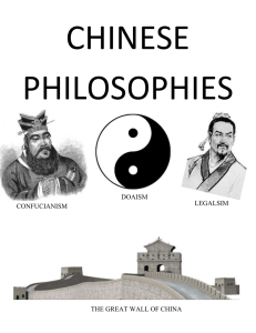 CHINESE PHILOSOPHIES  DOAISM