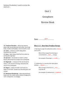 Unit 1 Geosphere Review Book