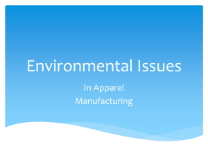 Environmental Issues In Apparel Manufacturing