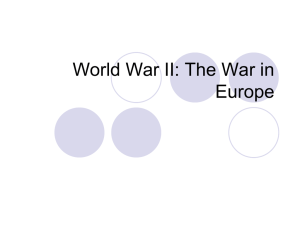 World War II: The War in Europe