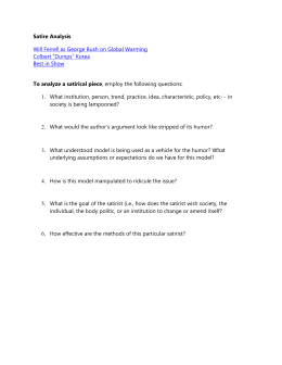 Parody essay writing and elements
