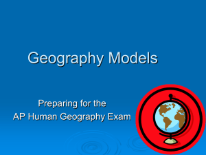Geography Models Preparing for the AP Human Geography Exam