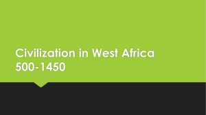 Civilization in West Africa 500-1450